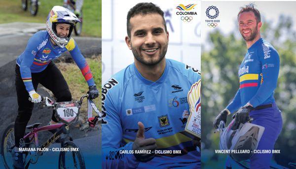 CONFIRMADOS LOS 3 CUPOS DEL BMX PARA TOKIO 2020: MARIANA, CARLOS Y VINCENT