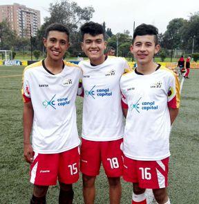 honier Ortiz (Millonarios) - Therry Pulido (Millonarios) y Jorge López (2) (Talentos) los autores de los goles de Bogotá ante Santande