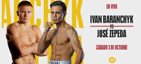 IVÁN BARANCHYK vs JOSÉ ZEPEDA EN VIVO DESDE LAS VEGAS POR TÍTULO DE PLATA SUPERLIGERO WBC