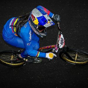 MARIANA PAJÓN DOMINÓ LAS VÁLIDAS 3 Y 4 DEL CIRCUITO DE COPAS MUNDO UCI BMX SUPERCROSS, REALIZADAS EN BOGOTÁ