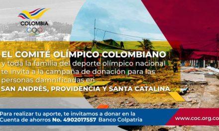 EL COMITÉ OLÍMPICO COLOMBIANO EMPRENDE CAMPAÑA DE DONACIÓN PARA SAN ANDRÉS