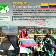 INGRESO GRATIS A VENEZOLANOS PARA EL PARTIDO DE EQUIDAD